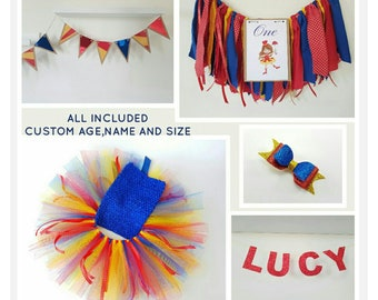 Carnival theme package,Circus outfit/banner set,Vintage carnival theme decor,Popcorn theme party,Clown birthday,carnival bow,Circus tutu