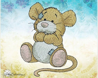 "Vole, Meadow Mice or Field Mice of a series ""Old Toy"" - Machine Embroidery Design for a Babies and Children in two sizes"