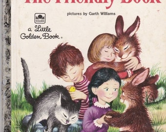 ON SALE The Friendly Book -  Vintage Little Golden Book - American Edition 1980s