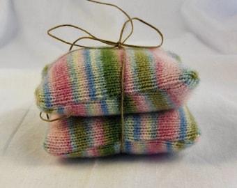 Striped Lambs Wool Hand Warmers,  no. 194