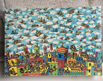 Vintage 1991 Where's Waldo The Carpet flyers Children's Puzzle