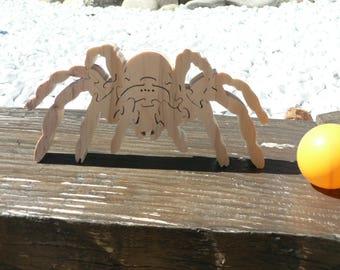 """The Tarantula spider"" animal puzzle-cut wood"
