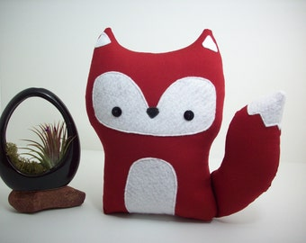 Fox pillow pal plush toy in red