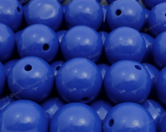 20mm Ultramarine Blue Chunky Bubblegum Beads - 10pcs - Chunky Gumball Beads, Candy Color Beads, Round Acrylic Beads - BR4-1