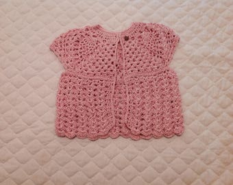 Girl's lacy sweater