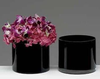 """Black 6"""" Cylinder Vase"""