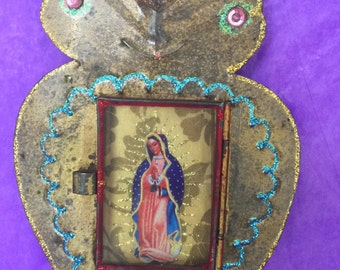 Virgin of Guadalupe set in a heart