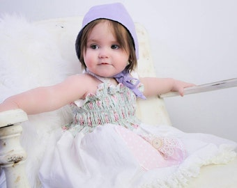 Light Violet Baby Girl Bonnet