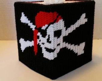 Pirate Skull Crossbone Tissue Box Cover