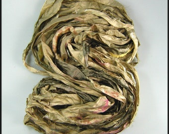 Silk sari ribbon called Champagne LAST ONE of this batch