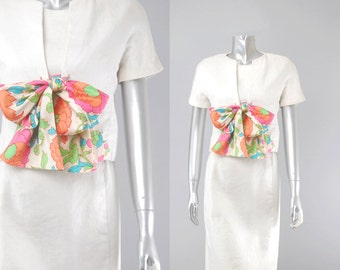Mollie Parnis silk linen suit |  mollie parnis dress | vintage 60s suit