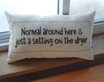 Normal Family around here is just a setting on the dryer - Pillow-