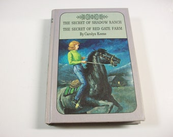 Vintage Carolyn Keene Nancy Drew Mystery Book, The Secret of Shadow Ranch and The Secret of Red Gate Farm Novel, Young Adult Fiction