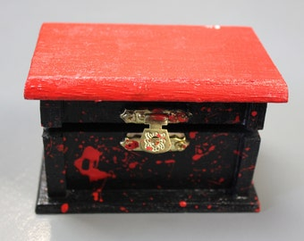 Blood Splatter Mini Jewelry Box