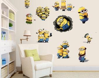 Minions Wall Decal Room Decor