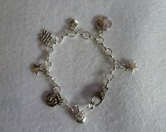 Bracelet with various pendants