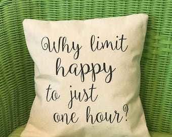 HAPPY HOUR Pillow Cover