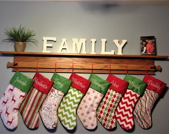 4  Personalized Christmas Stockings 30 fabrics to choose from