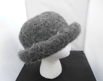 Heathered Gray Felted Hat