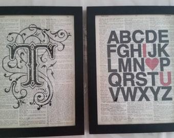 Custom Dictionary Art Print