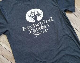 Enchanted Fandom Squad tee shirt, Bookish Shirt, Exclusive Squad Tee