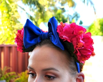 Pink Hibiscus Minnie Ears