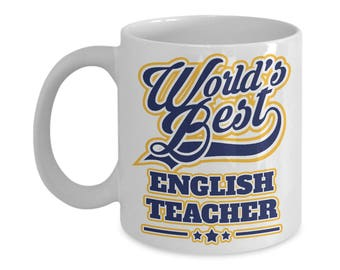 Worlds Best English Teacher 15oz. Mug - Teacher Appreciation Week Gift