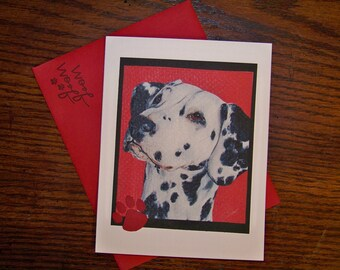Dalmation Single Card, Artwork from Original Art