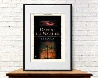 Rebecca by Daphne du Maurier. Book Cover Art Print