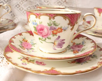 Aynsley Pink floral teaset made in England