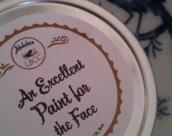 """18th Century """" An Excellent Paint For The Face""""  1oz White- Historic Label"""