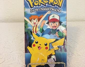 Pokemon VHS Tape, French Language Tape, French Pokemon, Je te choisis! Pikachu!