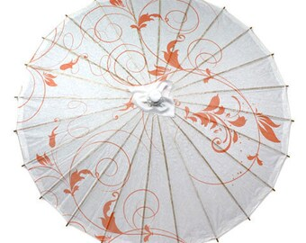 Peach Vines Paper Parasol
