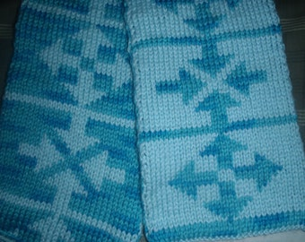 Arrow Double Knit Scarf Pattern