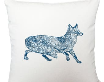 Cushions/ cushion cover/ scatter cushions/ throw cushions/ white cushion/ blue fox cushion cover