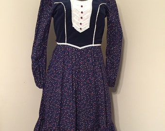 Vintage Dress / Country Western Stage Dress / Candi Jones California Vintage Dress / Western Wear / Country / Nashville / Dress / Prairie