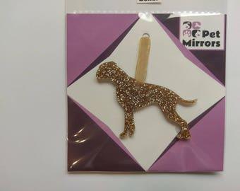 Glitter acrylic Boxer Dog Christmas decoration - 9 colour choices