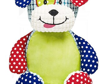 Harlequin Dog Cubby Embroidered With Your Special Message - Personalised Keepsake by Cubbies