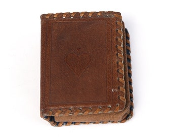 Vintage Leather Card Hand hammered Case, Handmade Distressed Case, Gift for Him, Luxury Gift