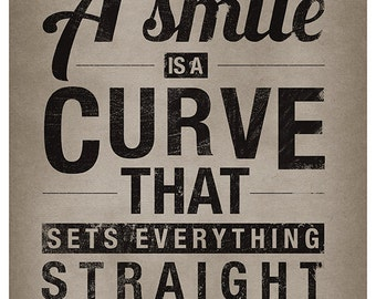 DIGITAL Smile Affirmation-instant download from original illustration-postcard size-true sayings-print your own