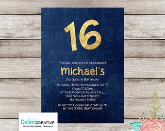 16th Birthday Invitation - 18th Birthday Invitation - 21st Birthday Invitation - Invitation - Printable Invitation!