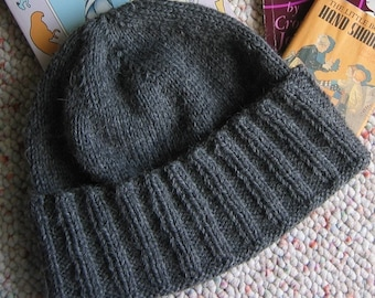 Knitting Pattern Hat and Scarf New York-- A Guy's Wool Hat Instant PDF Download Designer J. L. Fleckenstein