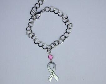 Pro Life Awareness Ribbon Bracelet - Pro Life Jewelry