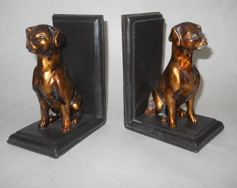 Mid Century Modern Seated Dogs Bookends