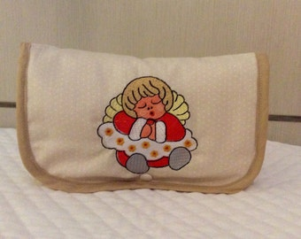 Wipes bag with embroidery-like Angel thun