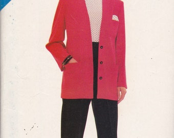 See and Sew 5820 Vintage Pattern Womens Pants and Unlned Jacket Size 8,10,12