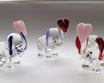 Glass Elephant With Glass Heart