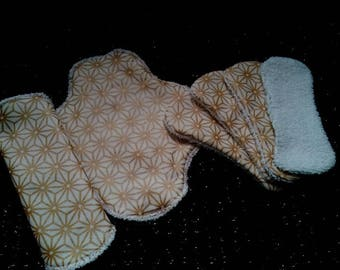 set of 2 protected panties with wings and 4 without fins