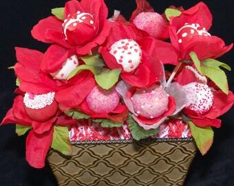 EDIBLE FLOWERS Cake Pops, Wedding Favors, Bridal Showers
