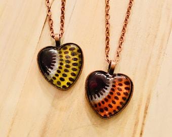 Nek-lace - Necklace - African inspired - heart pendant - liefde bars (love burst)